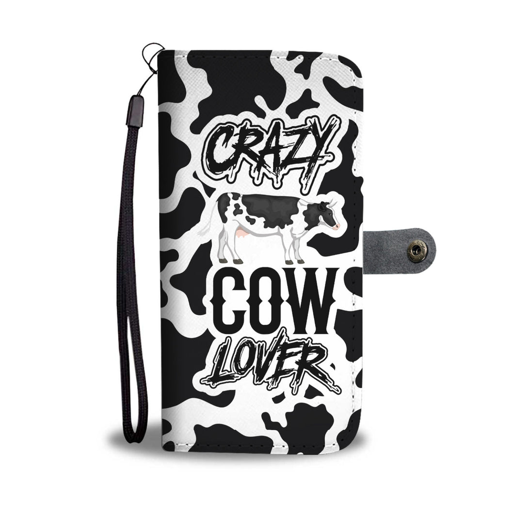 Crazy Cow Lover Phone Wallet Case
