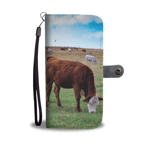 Grazing Cows Phone Wallet Case