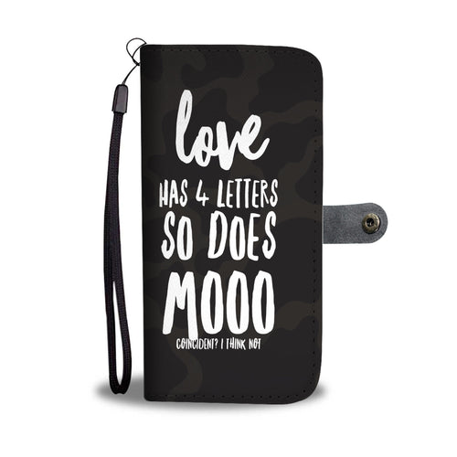 Mooo Phone Wallet Case