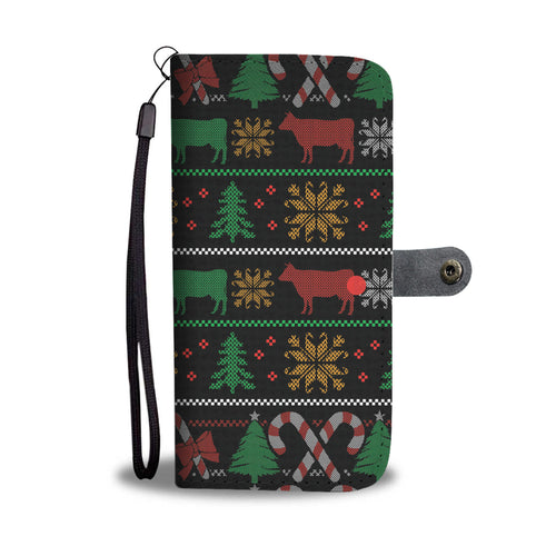 Christmas Pattern Phone Wallet Case