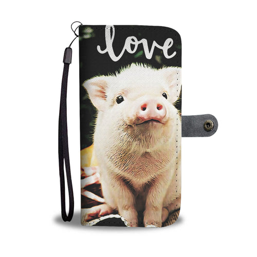 Love Pigs Phone Wallet Case