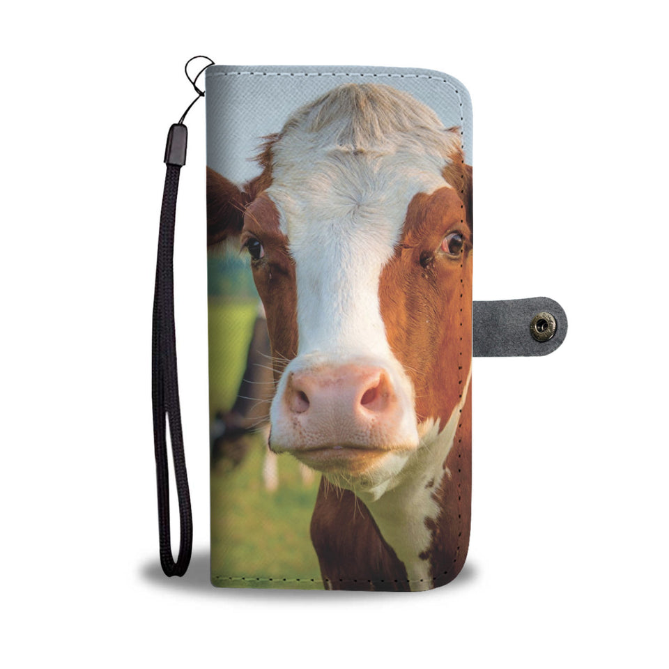 Personalized Cow Phone Wallet Case