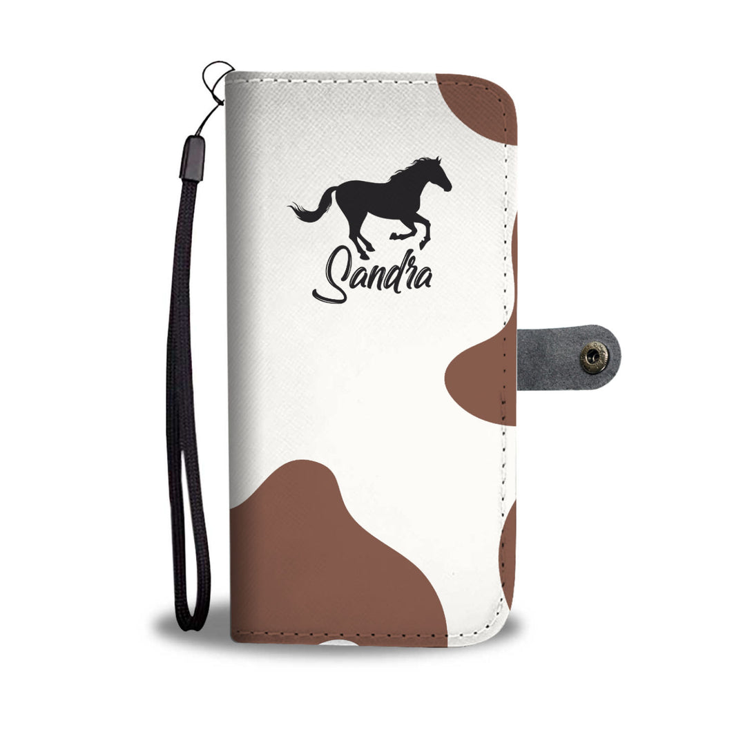 Personalized Tobero Horse Phone Wallet Case