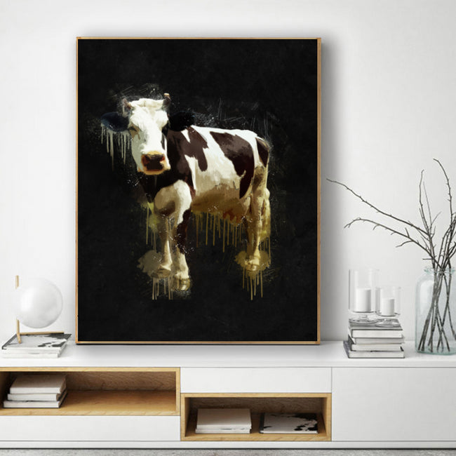Cow Oil Painting Style Canvas Print