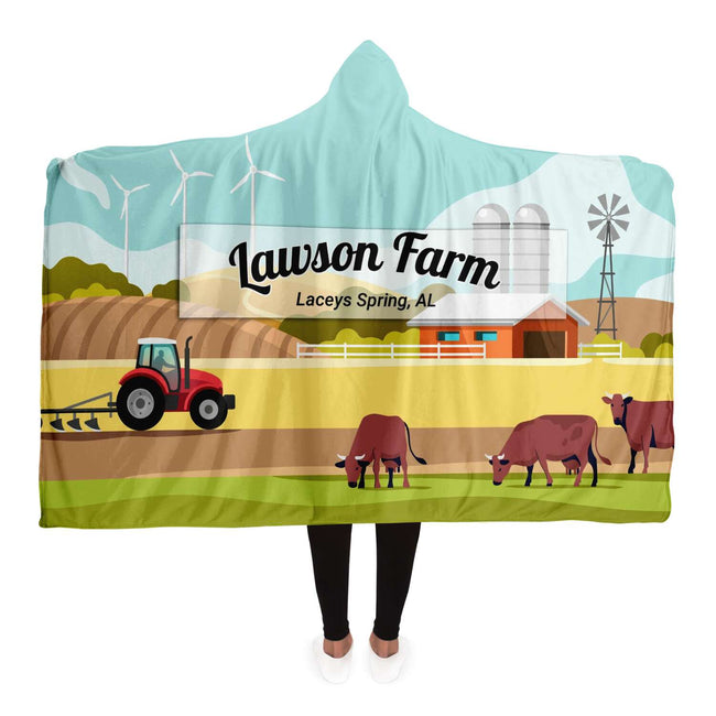 Personalized Farm Hooded Blanket