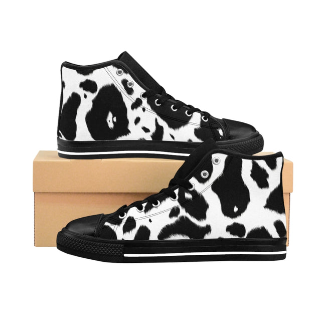 Cow Print Women's High-top Sneakers