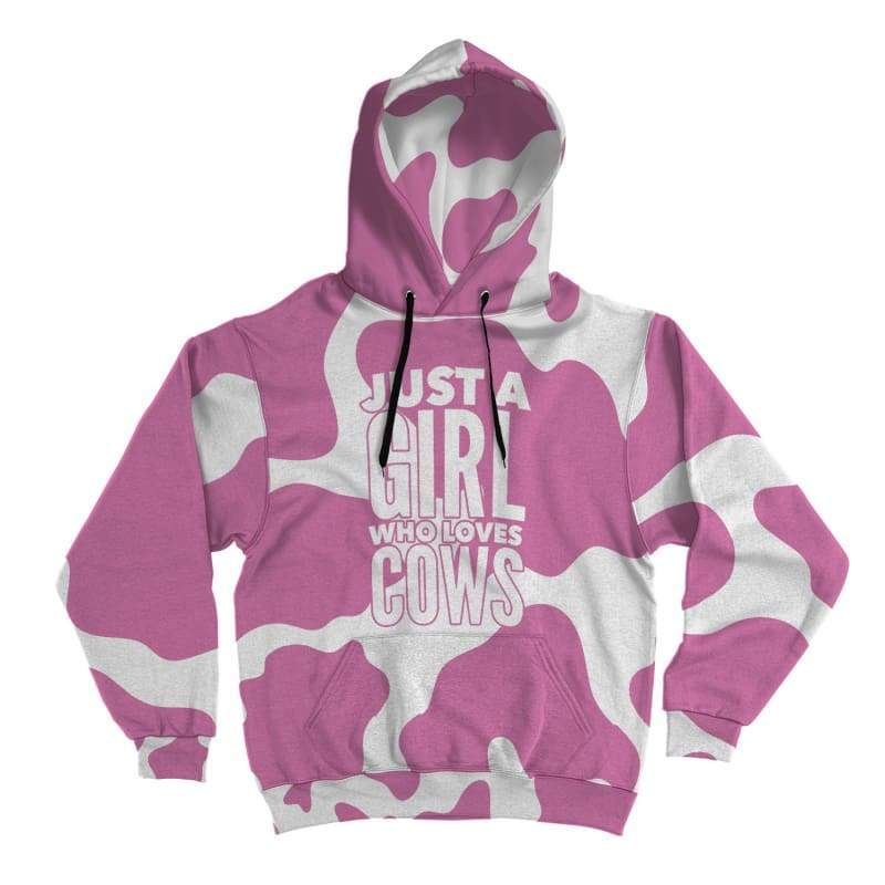 Pink Cow Lover Hoodie - Designs For Farmers