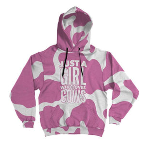 Pink Cow Lover Hoodie | Cow Loco