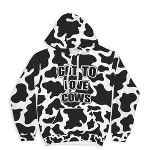 Got To Love Cows All Over Print Hoodie | Cow Loco
