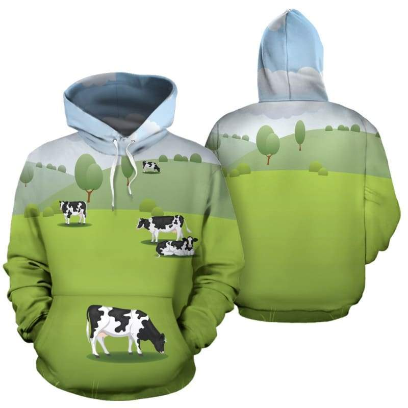 Meadow Cow Hoodie | Cow Loco