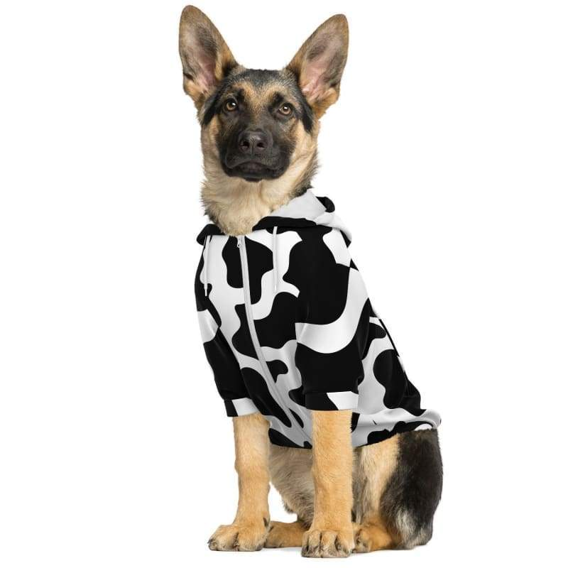 Cool Cow Print Hoodie For Dogs | Cow Loco