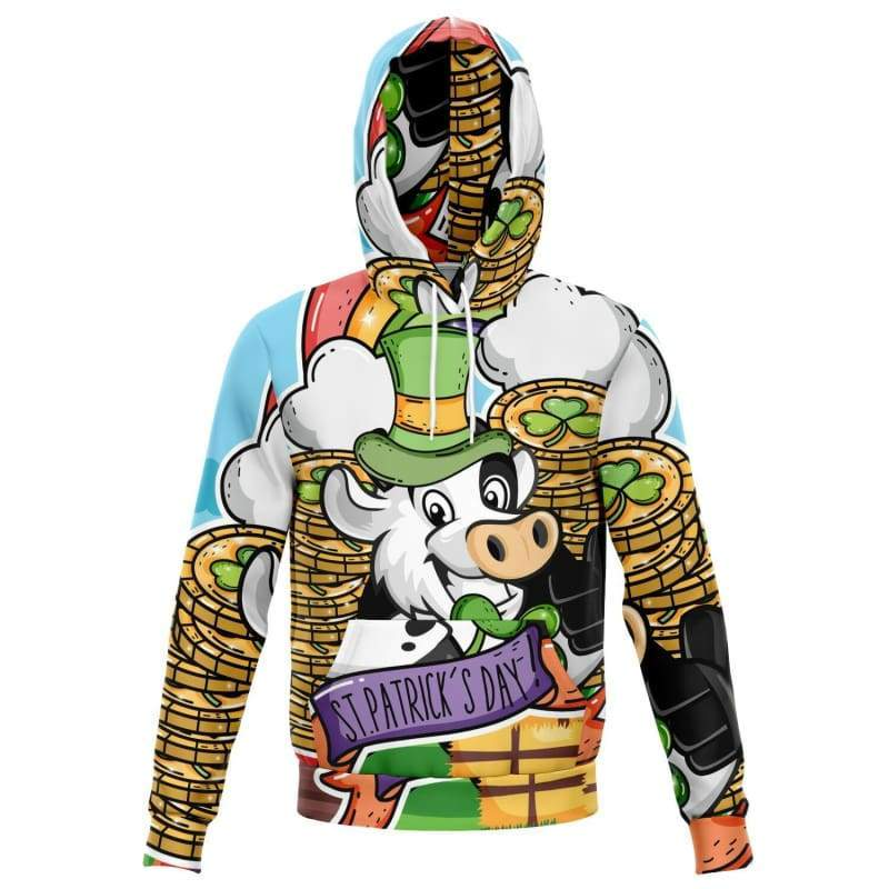 St Patricks Day All Over Print Hoodie | Cow Loco