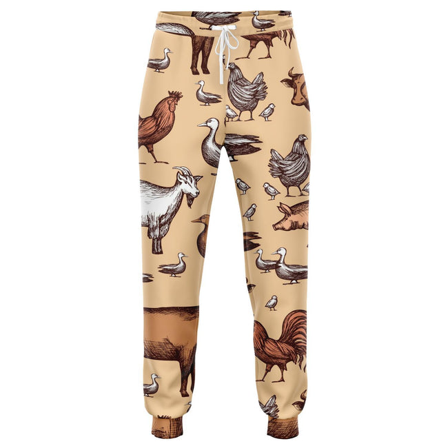 Farm Animal Joggers Sweatpants | Cow Loco
