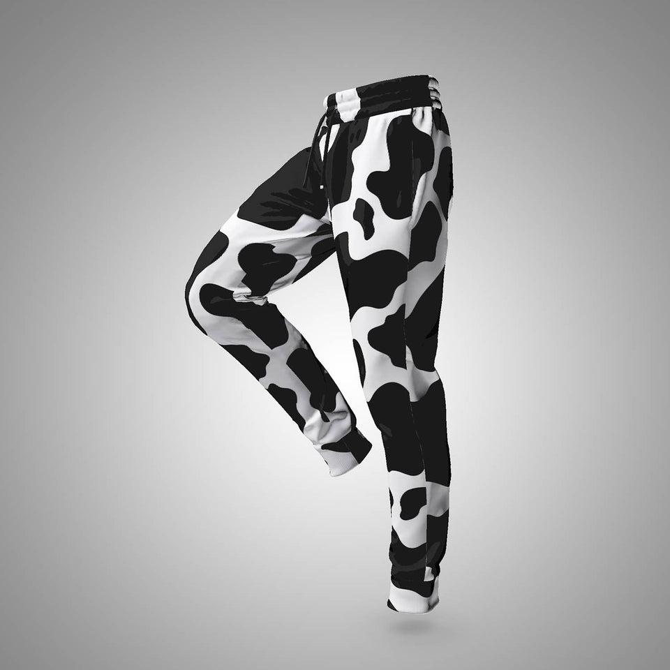 cool Cow Print Jogger Sweatpants for leisure and sports| Cow Loco
