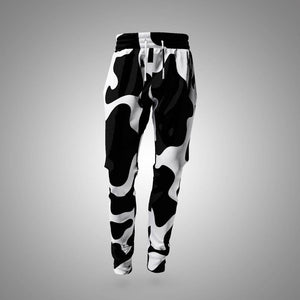 Holstein print sweatpants with vibrant high-quality print | Cow Loco