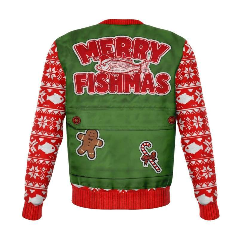 Merry Fishmas Ugly Christmas Sweater | Cow Loco