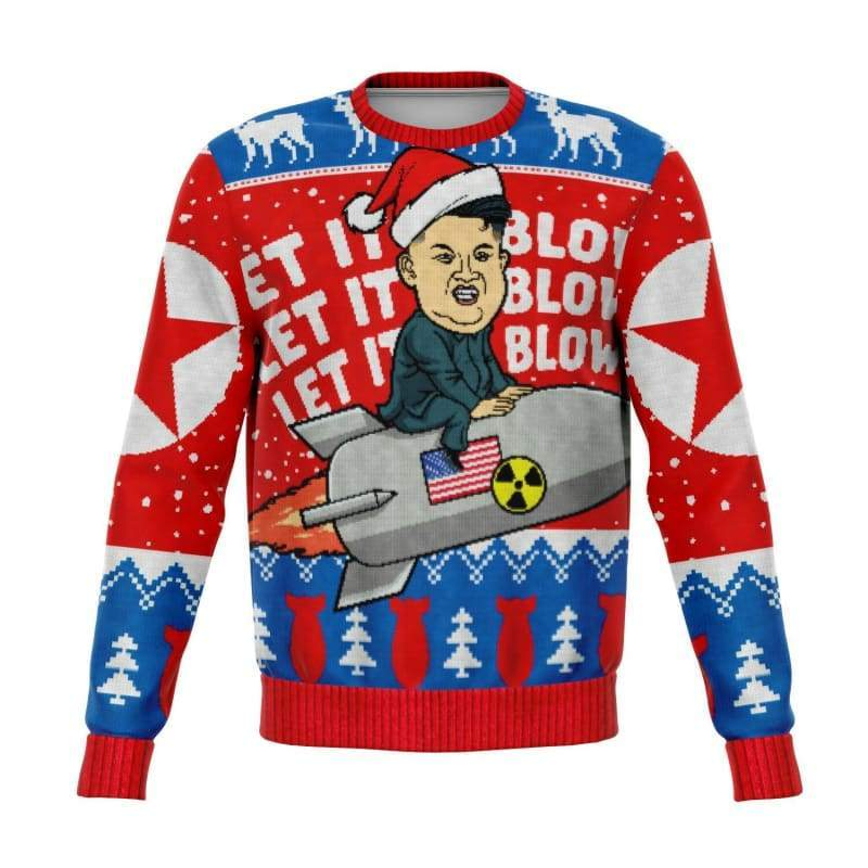 Rocket Man Kim Jung Un Ugly Christmas Sweater | Cow Loco