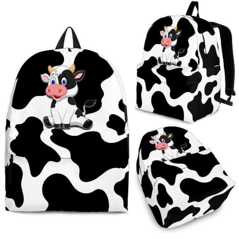 Premium Cow Print Backpack - Designs For Farmers