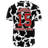 Personalized Cow Baseball Jersey | Cow Loco