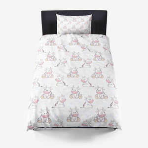 Cute Cow Microfiber Duvet Cover
