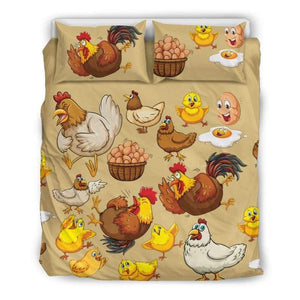 Funny Chicken & Egg Bedding Set | Cow Loco