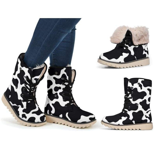 Chic Microsuede Cows Print Boots | Cow Loco