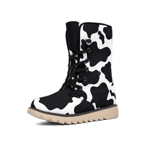 Chic Microsuede Cows Print Boots - Designs For Farmers
