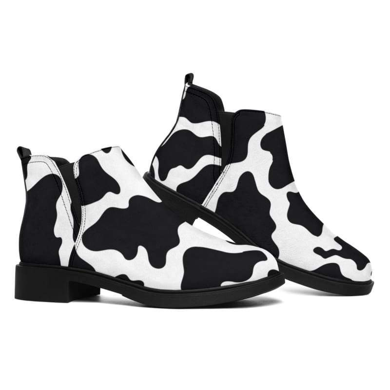 Cow Print Boots - Designs For Farmers