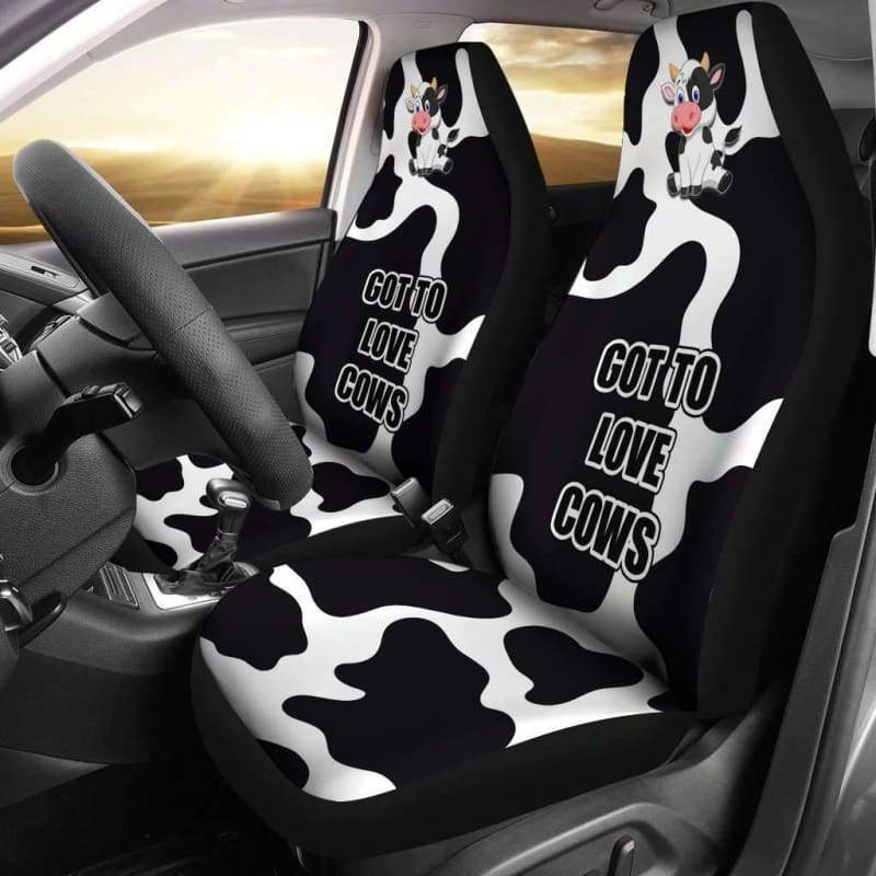 Cow Car Seat Cover (Set of 2) - Designs For Farmers