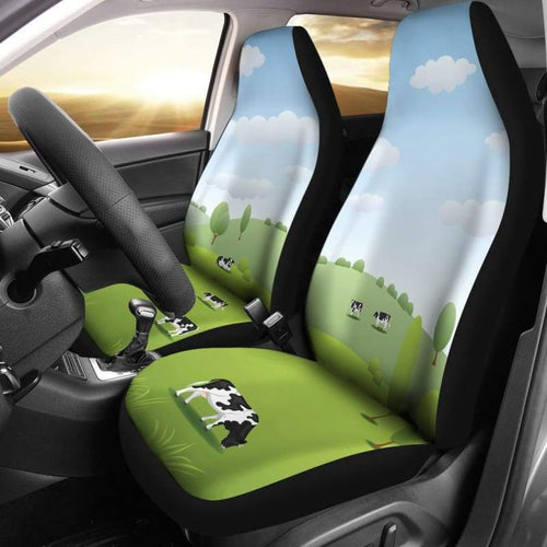 Cow Meadow Car Seat Covers (Set Of 2) | Cow Loco
