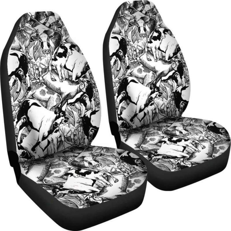 Cow Pile Car Seat Covers (Set of 2) | Cow Loco