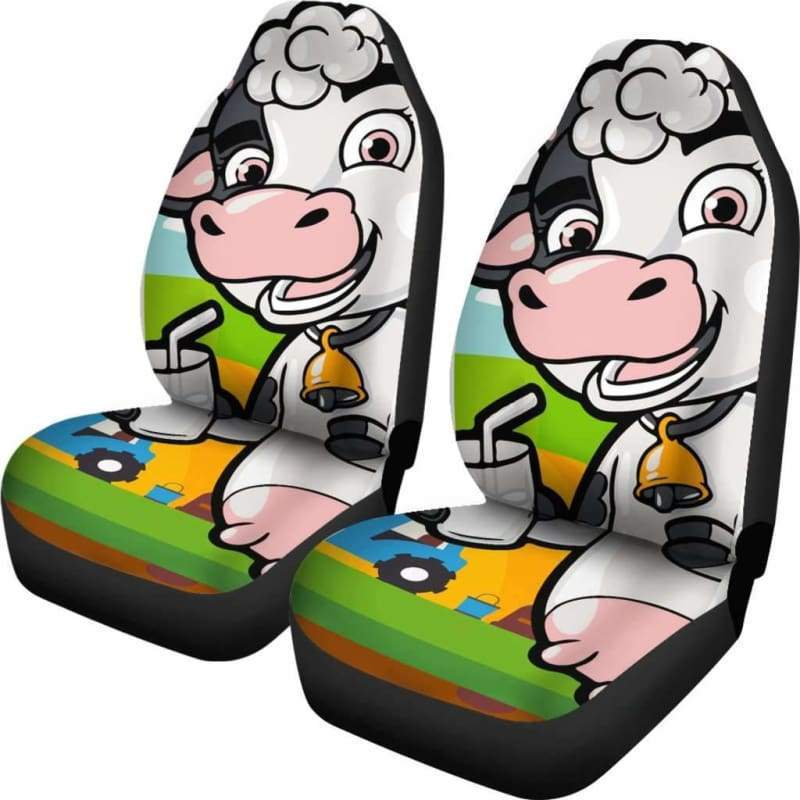 Happy Cow Car Seat Covers (Set of 2) - Designs For Farmers