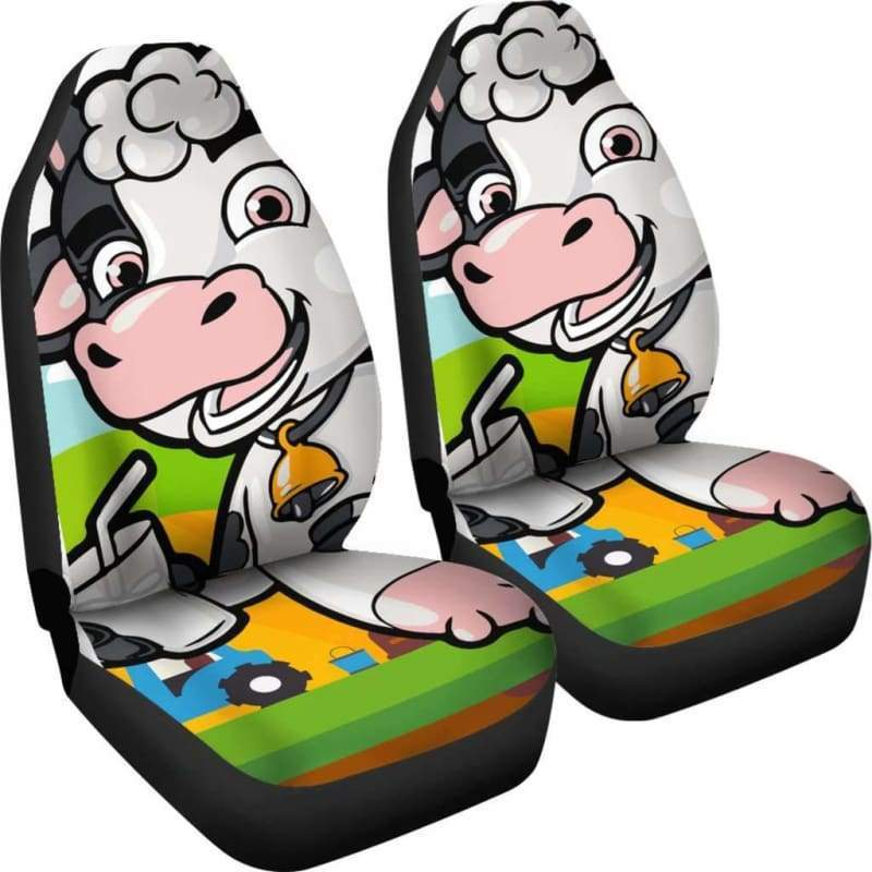Happy Cow Car Seat Covers (Set of 2) | Cow Loco