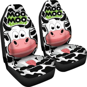 Moo Moo Car Seat Covers (Set of 2) - Designs For Farmers