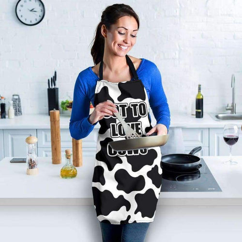 Chic Cow Print Apron | Cow Loco