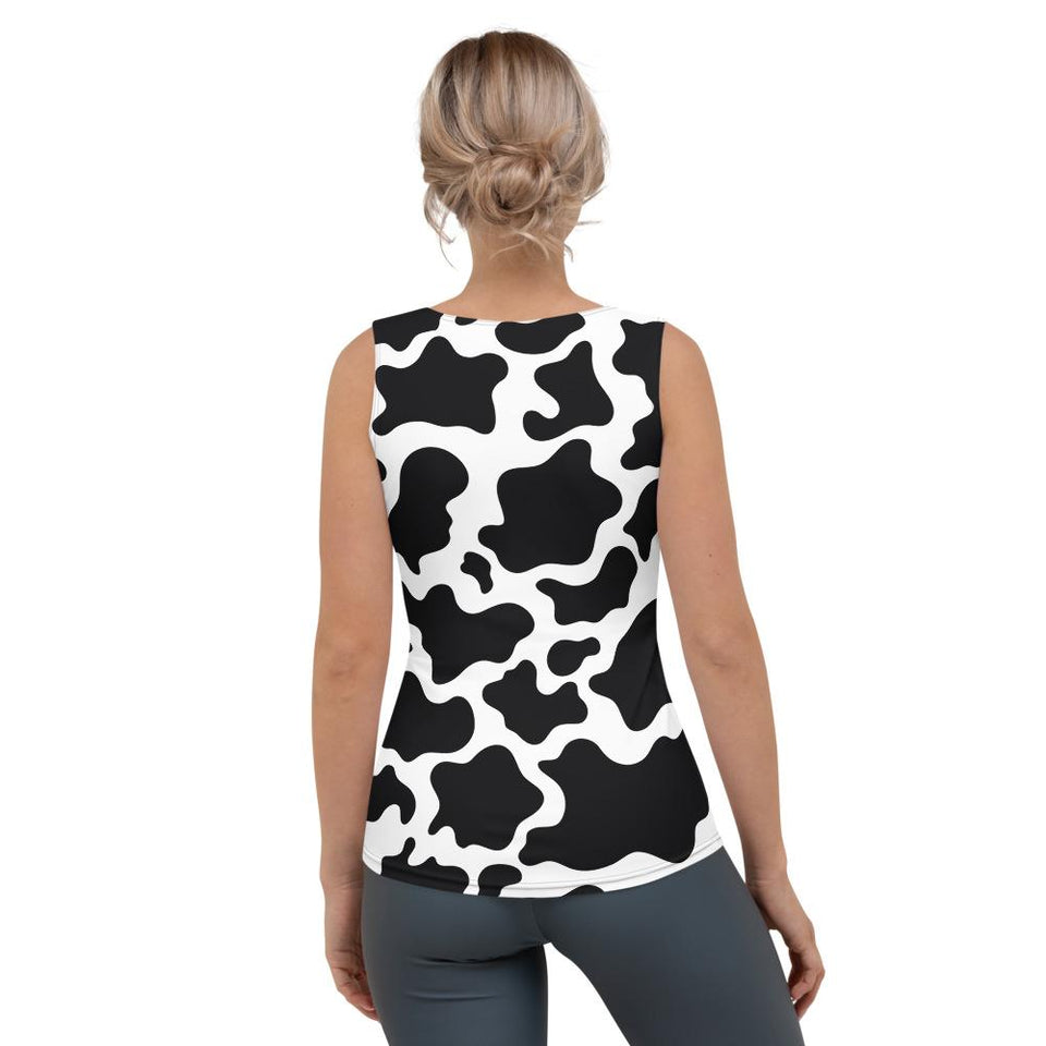 Cow Print All Over Tank Top