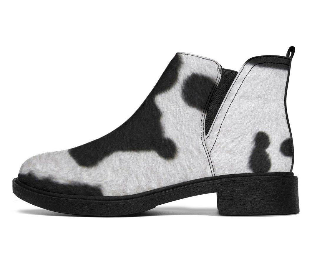 Cowhide Cow Print Booties | Cow Loco
