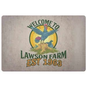 Personalized Rooster Farm Doormat | Cow Loco