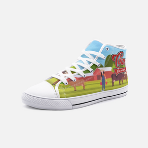 Cows Make Me Happy High Top Canvas Sneakers