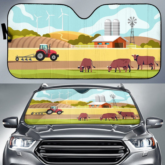 Farm Animal Car Sun Windshield Shade | Cow Loco