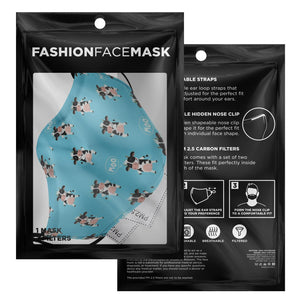 Happy Cow Facemask With 2 PM2.5 Filters | Cow Loco