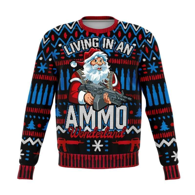 Ammo Wonderland Ugly Christmas Sweater | Cow Loco
