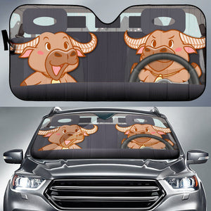 Funny Cows In Car Sun Shade | Cow Loco