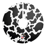 Cow Print Christmas Tree Skirt | Cow Loco