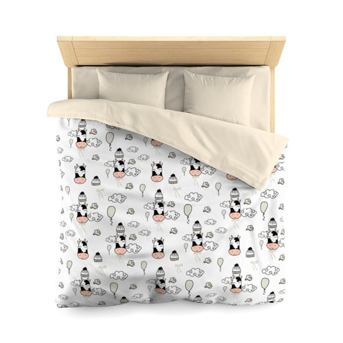 Cute Cow Microfiber Duvet Cover | Cow Loco