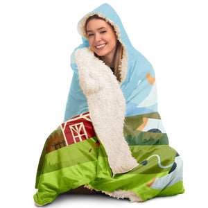 Life Is Better On A Farm Hooded Blanket