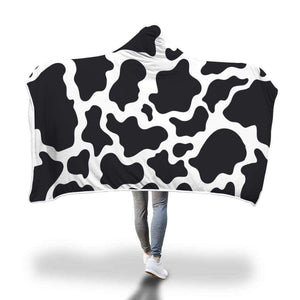 Cozy Cow Print Hooded Blanket | Cow Loco