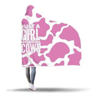 Pink Cow Lover Hooded Blanket | Cow Loco