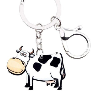 Acrylic Cow Key Chains | Cow Loco