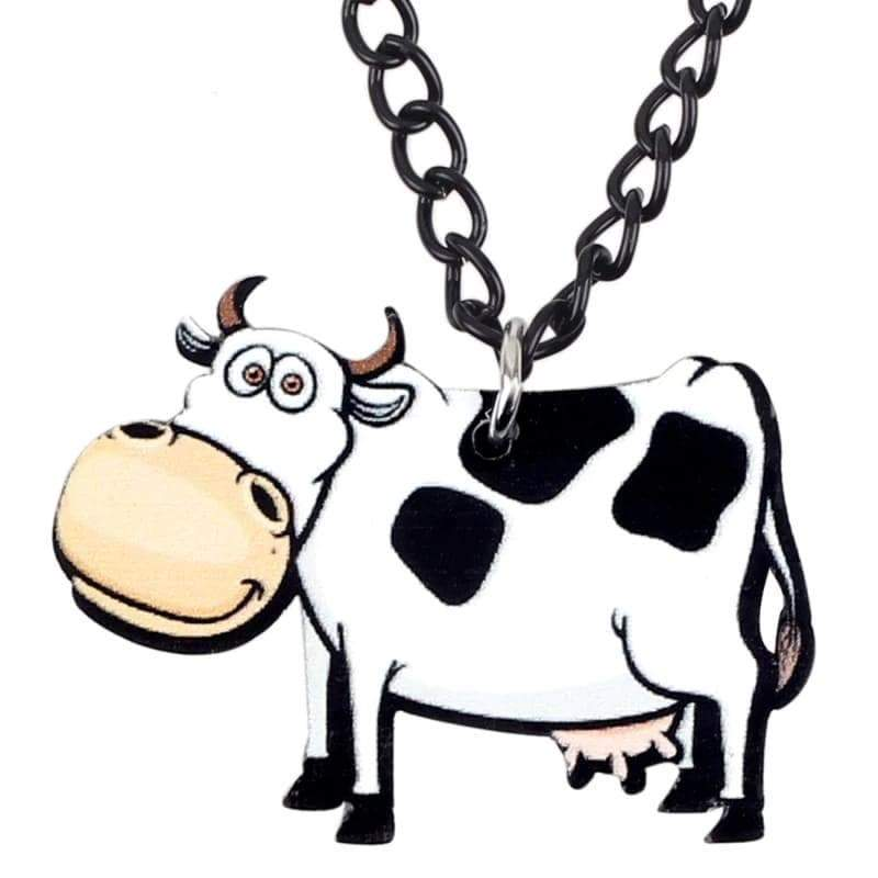 Acrylic Cow Necklace For Women - Designs For Farmers